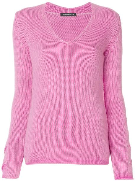 sweater women purple knit pink