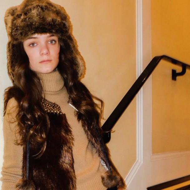 callies street chic blogger fur hat