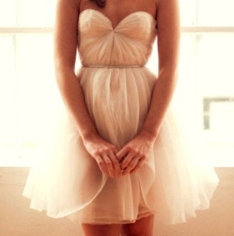 dress pink white short sheer belt sinched pretty chic prety poofy homecoming dress homecoming sleveless sleeveless dress strapless strapless dress poofy dress sleveless dress