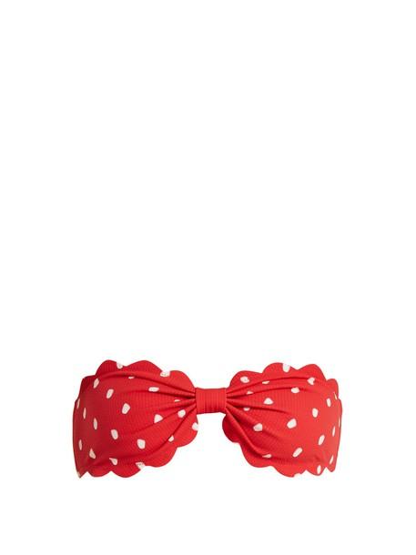 marysia swim bikini bikini top bandeau bikini red swimwear