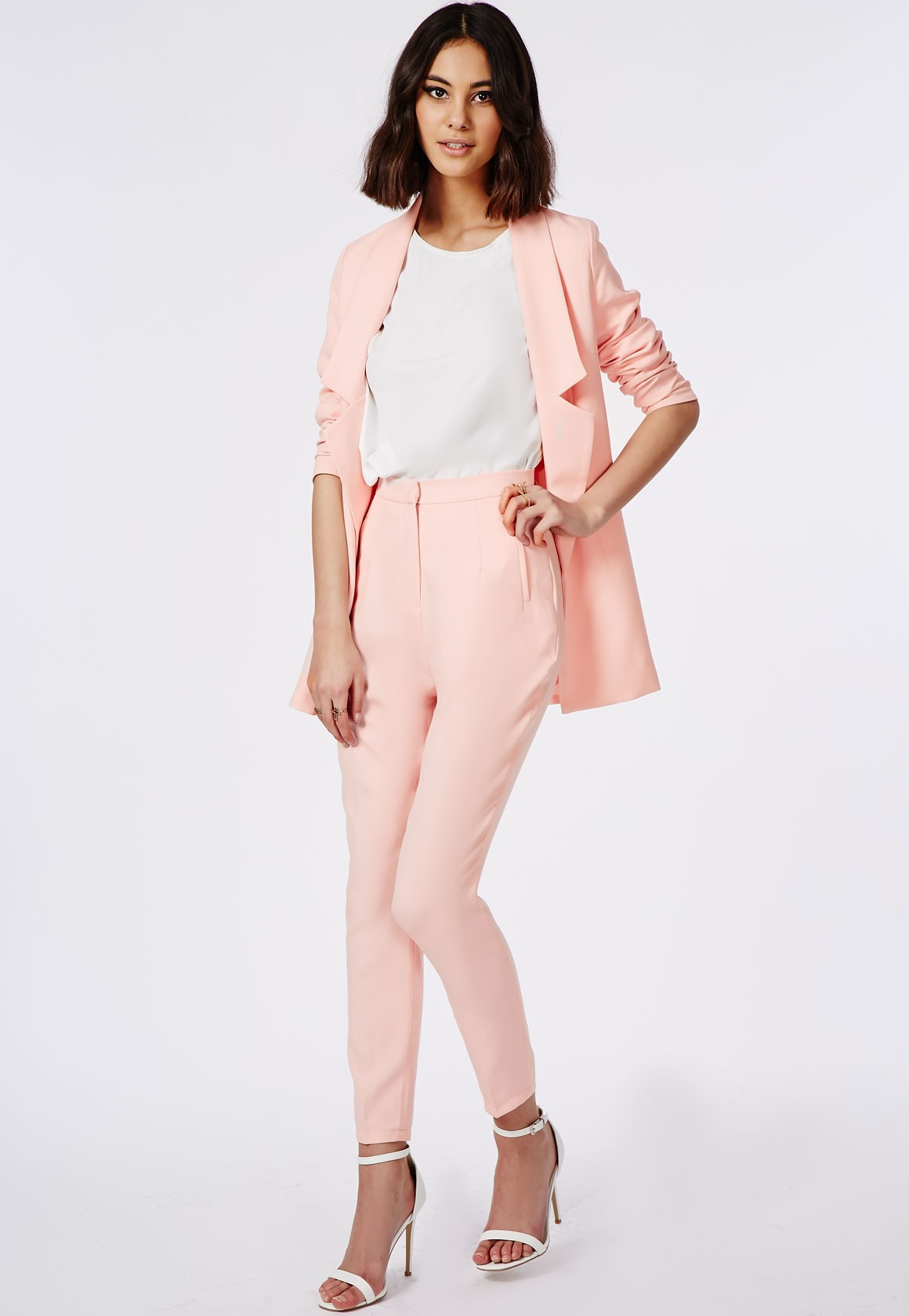 Womens Pink Trouser Suit My Dress Tip