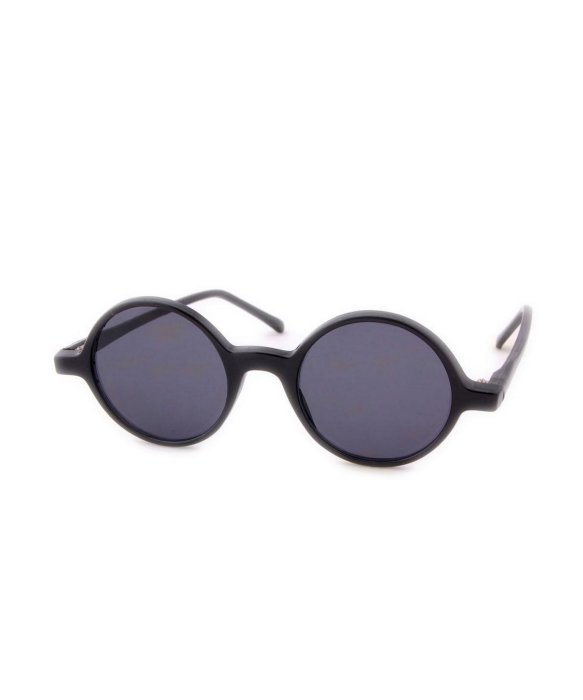 Smash Vintage Sunglasses PHONOGRAPH Deadstock Round Sunglasses - Black | BLUEFLY up to 70% off designer brands
