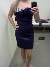 dress,short dress,purple dress,cocktail dress,strapless dress