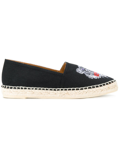 Kenzo women tiger espadrilles cotton black shoes