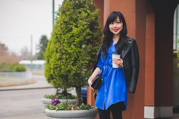 her waise voice shirt dress jacket shoes bag
