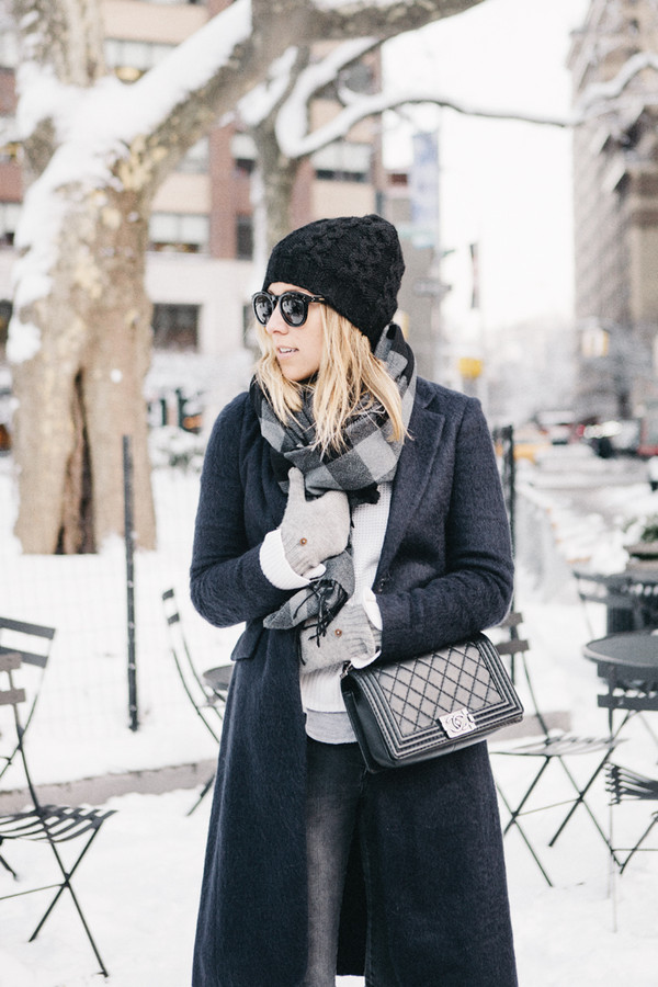 damsel in dior jeans coat hat shoes scarf