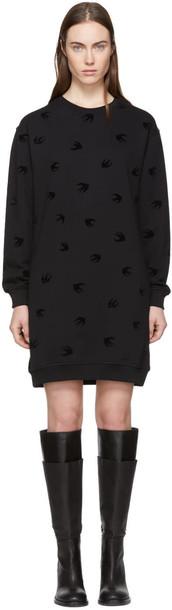 McQ Alexander McQueen dress sweatshirt dress mini black
