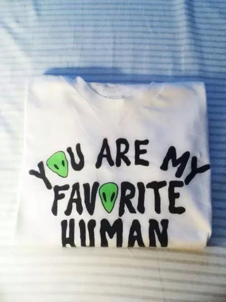 t-shirt shirt alien lovely cute top