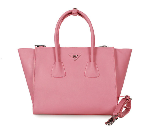 2013 Prada Glacé Calf Leather Tote BN2619 in Cerise Pink [bn2619-cerise-pink] - $276.22 : Prada Bags Spring 2014, Spotted Fashion