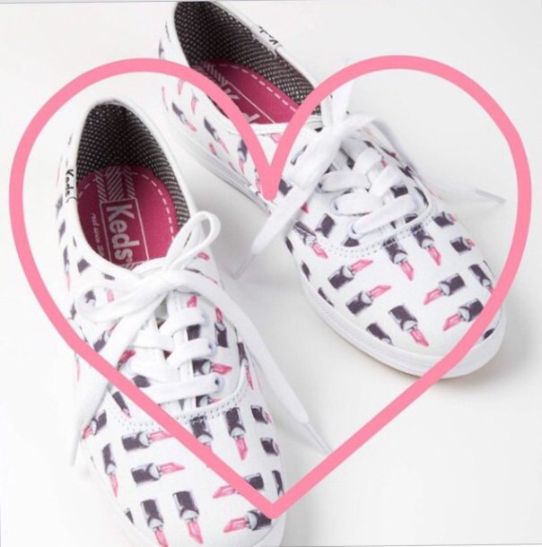 shoes keds lipstick