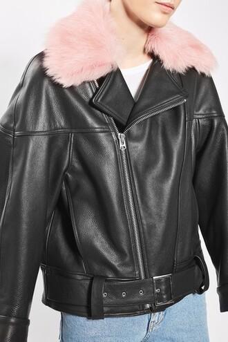 jacket leather pink
