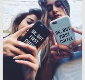 phone cover,ok but first coffee,quote on it phone case