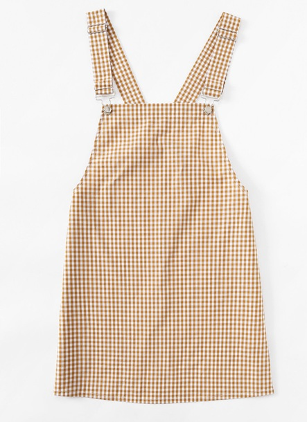 dress girly overalls short overalls overall dress suspenders gingham gingham dresses