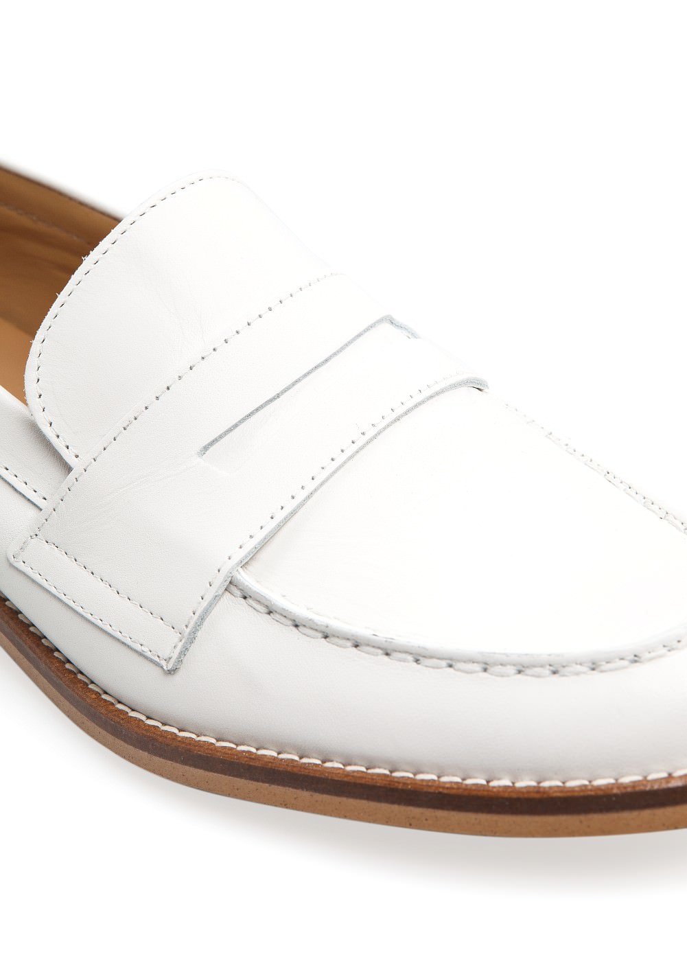 Leather penny loafers -  							  							Women - 							MANGO