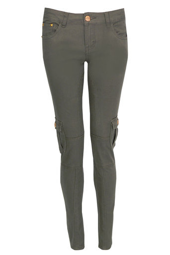 Chesney Utility Style Trouser In Khaki - Pop Couture