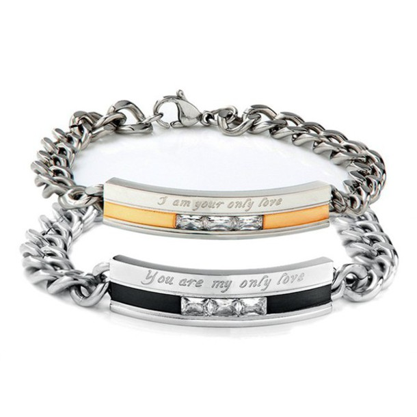 jewels his and hers bracelets girlfriend boyfriend. Black Bedroom Furniture Sets. Home Design Ideas
