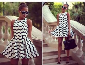 dress black and white xhilaration xute