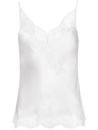 camisole women lace white silk underwear