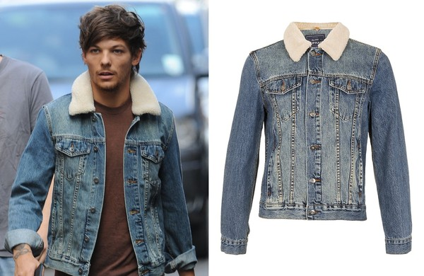 jacket louis tomlinson denim jacket