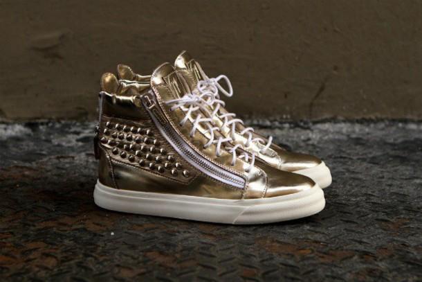 shoes giuseppe zanotti snakeskin hi top