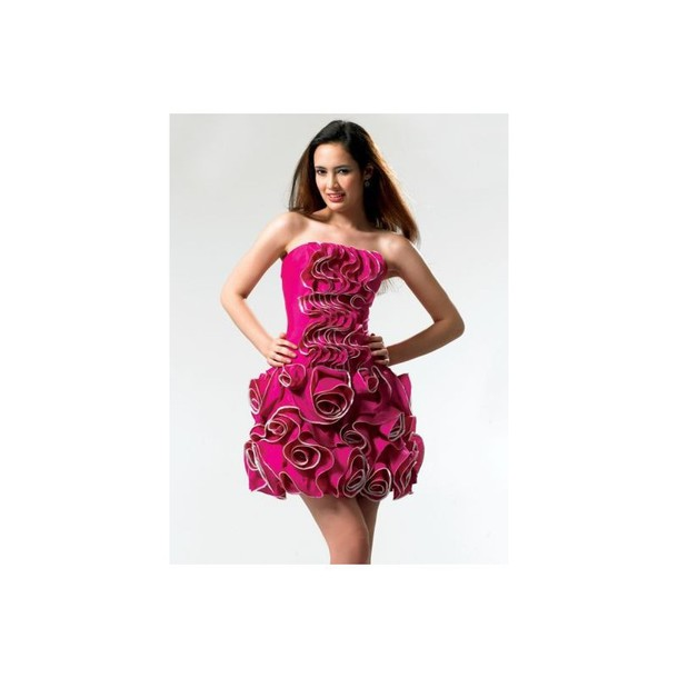dress, roses, plus size evening dresses, beaded, short hot ...