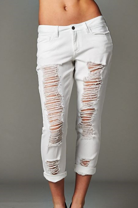 White Boyfriend Jeans - The Fashion Corporation