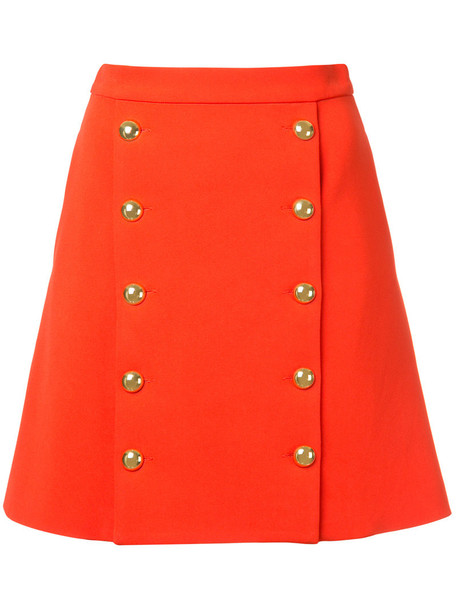 macgraw skirt mini skirt mini women silk red