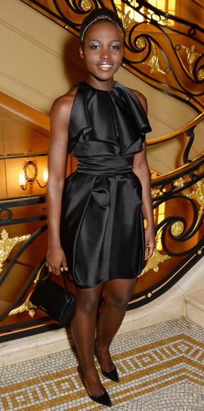 dress little black dress silk lupita nyong'o