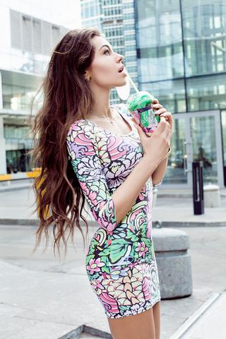 Оригинальное платье с принтом | Купить платье в интернет магазине iSwag