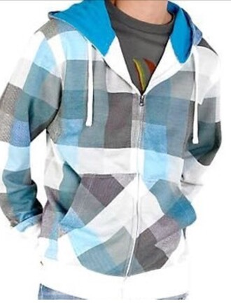 jacket blue sol plaid zip fleece jacket menswear warm fleece hoodie mens jacket skater