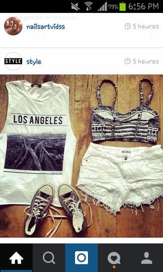 t-shirt los angeles los angeles top white t-shirt tank top california