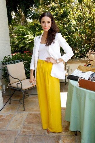 jacket white style white jacket abigail spencer celebrity clothes sequins elegant actress tumblr