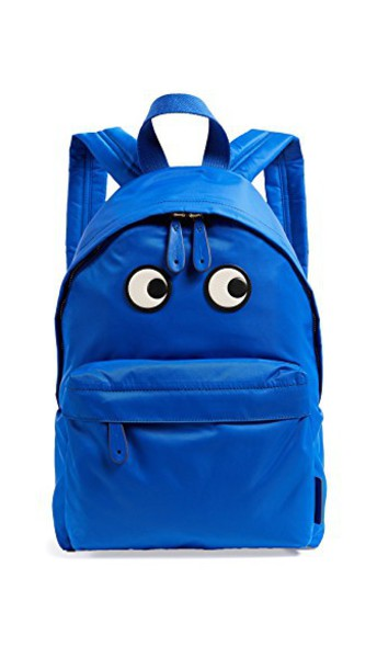 Anya Hindmarch eyes backpack blue bag