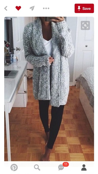 cardigan grey knitted cardigan
