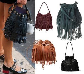 lesmads blogger bag suede bag leather bag fringed bag