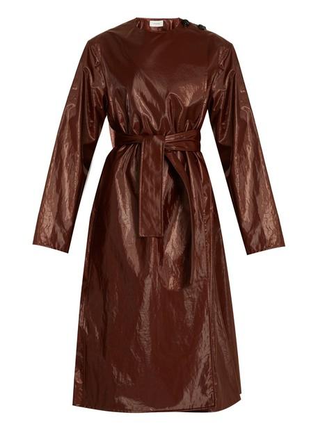 Lemaire coat cotton brown