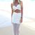White Long Skirt - White Semi-Sheer Maxi Skirt with | UsTrendy