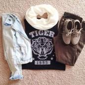 shirt,tiger,1995,black,t-shirt,shoes,jacket