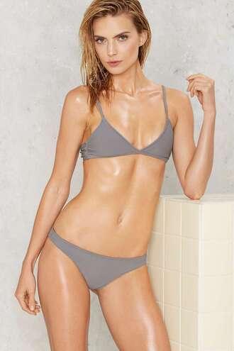 swimwear bikini grey