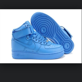 shoes blue nike air force ones nike air force one blue shoes number 40 europe euro 8