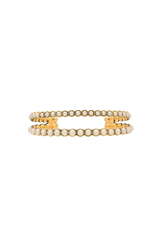 cuff pearl metallic gold