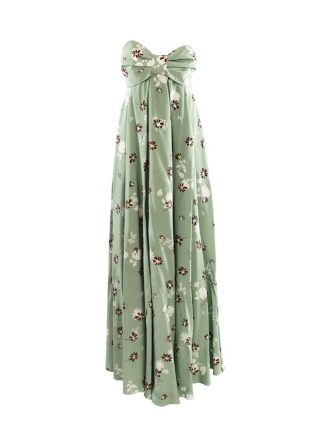 Valentino dress strapless dress strapless floral print multicolor