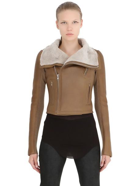 Rick Owens jacket classic brown