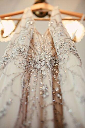dress beaded beige dress sequin dress embellished jenny packham
