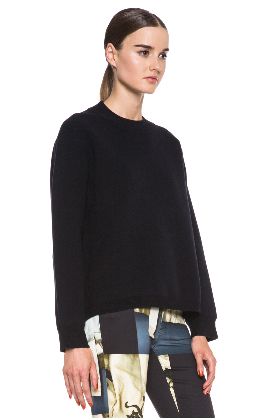 Acne Studios|Misty Merino Wool-Blend Pullover in Black