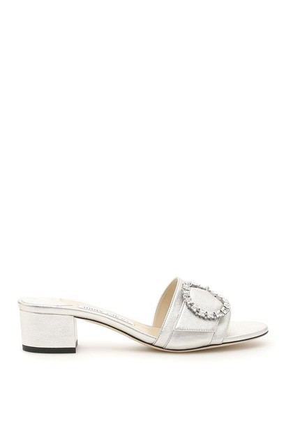 Jimmy Choo mules silver shoes