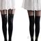 Fashion vintage tights pantyhose tattoo mock bow suspender sheer stockings bhau | ebay