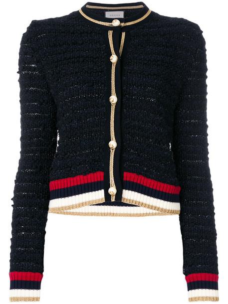 gucci cardigan cardigan women cotton black silk wool sweater