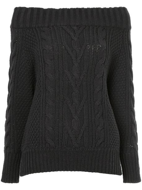 jumper women cotton knit grey sweater