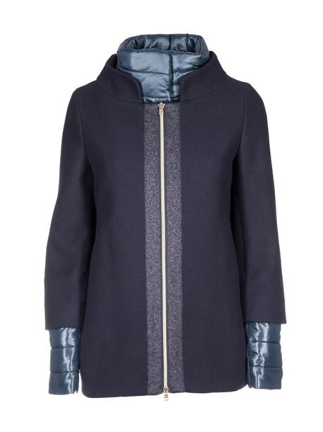 Herno jacket zip up jacket zip blue